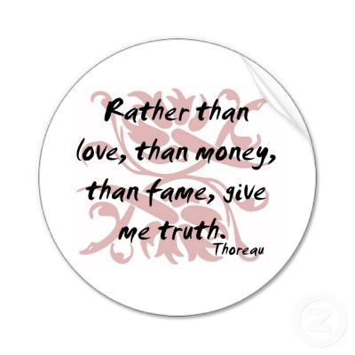 thoreau give me truth sticker